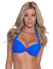 Halter Neck Ladies Swimwear Padded Underwired Women's Bikini Top Size 8 10 12 14
