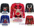UNISEX MENS LADIES WOMEN KNITTED LONG SLEEVES XMAS CHRISTMAS JUMPER SWEATER 8-30