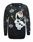 UNISEX KIDS GIRLS BOYS SNOW FLAKES REINDEER XMAS CHRISTMAS JUMPER OLAF TOP 3-14