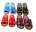 Womens Slippers Traditional Chinese Style Silk Brocade Fabric with Floral Design