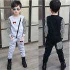 New Children leopard suit Outfits & Sets boys casual sports pants coats VG0012