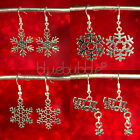 FUNKY CHRISTMAS STYLE EARRINGS CUTE FESTIVE XMAS CHARM PENDANT COOL JACK FROST