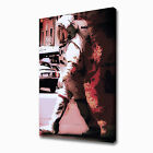 LARGE SPACE MAN ON EARTH CANVAS PRINT EZ1047