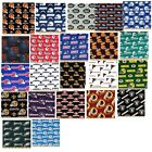 NFL cotton fabric football sports fat quarter professional teams u select 18x30""