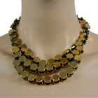 Womens Metal Chunky Golden Statement Necklace Pendant