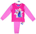 Girls Official Disney FROZEN Anna & Elsa Winter Magic Pink Pyjamas 18 Mths-4 Yrs