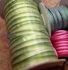 """VINTAGE 1/8"""" EMBROIDERY FLOWER RIBBON OMBRE RIBBONWORK 1 yd Made in France"""