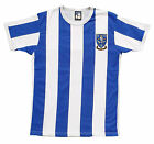 Sheffield Wednesday 1970s Retro Football T Shirt New Sizes S-XXL Embroidered