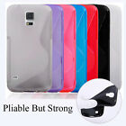 Non-Slip Soft TPU Silicone Gel Rubber S Line Case Cover Skin For Samsung Phones