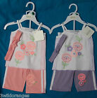 Baby Girl 3 Piece Outfit Pink or Lilac size 6-12, 12-18, 18-24 months
