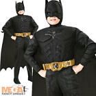 Boys Deluxe Batman The Dark Knight Rises Superhero Fancy Dress Kids Costume 3-10