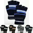 Casual Knit/Wool Winter Gloves Fingerless for Touch Fashion Striped New One Size