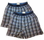 Hanes Cotton Blend Men's boxers Classics Plaid Comfortable Underwear Boxers 2-PK