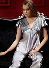 Silk Blend 2pcs Women Sleepwear/ pajamas Sets M/L/XL/2XL/3XL with Short Sleeves
