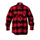 Rothco 4739 Men's Brawny Buffalo Plaid Long Sleeve Flannel Shirt Heavyweight