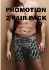 2 Pairs Men Kickers Gray Striped Boxer Shorts