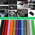 5ftx12ft Air Free Carbon Fiber Car Vinyl Wrap Self-adhesive Wall Paper Sticker