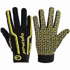 New Optimum 'Velocity' Full Finger Black/yellow  Rugby Gloves