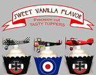 WW1 Aviation Fighter Planes EDIBLE wafer Cupcake Toppers PRE-CUT cup cake