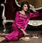 Discount 2pcs Women's Silk Blend Sleepwear/ Pajama Sets Long Sleeves M/L/XL/2XL