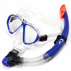 Adult Pvc Swimming Diving Scuba Goggles Glass Mask Snorkel Set Water Sports