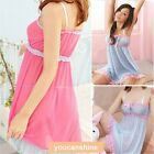 Sexy Womens Lace lingerie Sleepwear Strap Nightwear G-string Babydoll Nightdress