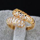 Charm Vintage Pierced 18K Gold Filled Multi White Sappire Crystal Party Rings