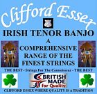 CLIFFORD ESSEX IRISH TENOR BANJO STRINGS MEDIUM 12 - 38 PLAIN 2ND. BRITISH MADE.