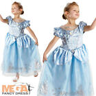 Deluxe Cinderella Girl's Disney Princess Kids Fancy Dress Childs Costume Outfit