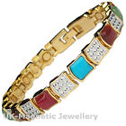 LADIES MAGNETIC BRACELET WITH ASSORTED GEMSTONES (#BRAS-30-MJ)