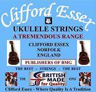 CLIFFORD ESSEX SOPRANO UKULELE STRINGS. LIGHT. C OR D TUNING. MADE IN BRITAIN.