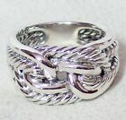 DAVID YURMAN STERLING SILVER LABYRINTH LOOP RING
