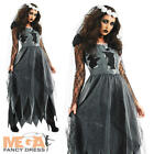 Black Corpse Bride Halloween Ladies Fancy Dress Womens Adult Costume Outfit 6-26