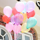 "100pcs 10"" Pearl Latex Ballons Party Wedding Birthday Decoration Multi-color New"