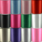 Satin Ribbon Sash Size 100mm (4 inch) Extra Wide - Full Rolls 50 Metres