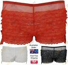 Brand New Ladies Knickers Frilly Lace Rumba Style Dance Decorative Bows Sheer
