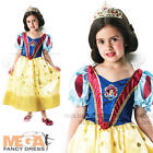 Deluxe Glitter Snow White Girl's Disney Princess Fancy Dress Kids Child Costume