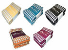 5 Pack Cotton Terry Tea Towel 2 Solid 3 Check Per Pack 65 x 45cm Kitchen Towels
