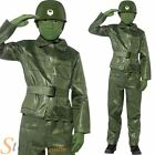 Boys Toy Soldier Costume Green Army Fancy Dress Child Kids Outfit Story