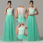 Cocktail Homecoming Long Green Lace Evening Party Ball Gown Prom Dress Oversized