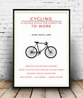 Cycling to work , Cycle Benefits advertising poster reproduction.