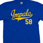 Impala 58 Script Tail T-Shirt - 1958 Lowrider Classic Tee - All Sizes