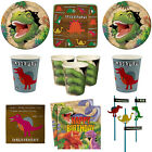 Boys Dinosaur Dino Roarr Birthday Party Plates Cups Napkins Tableware