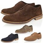 MENS REAL SUEDE LEATHER SMART CASUAL OFFICE OXFORD BROUGE LACE UP SHOE SIZE 7-12
