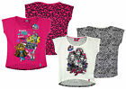 Girl's Monster High Front & Back Printed Halloween T-Shirt Top 8-14yrs NEW