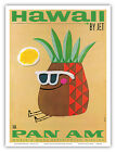 Pan Am HAWAII Pineapple Phillips Vintage Airline Travel Poster Print