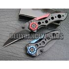 FOLDING KNIFE WITH BELT POCKET CLIP OUTDOOR SURVIVAL CAMP MULTI TOOL FRAME LOCK