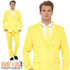 Yellow Suit Mens Fancy Dress Stag Party The Mask Jim Carrey Adults Costume New
