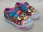 SKECHERS TWINKLE TOES CANVAS GIRLS SHOES 10393N/MLT 'CRITTER BUDS' MONKEY
