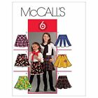 McCalls 5696 Girls Flared Skirts Pleats Godets Sewing Pattern 3-14 Yrs M5696